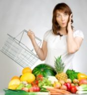 confused woman starting a raw food diet