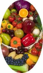 picture of raw fruits and vegetables for list of raw foods