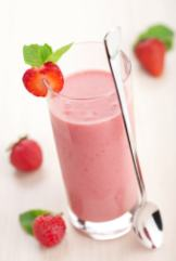 raw ice cream strawberry treat